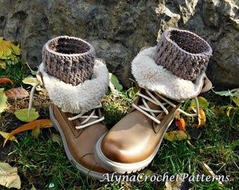 Boot Cuffs Crochet Pattern - Crochet Pattern Boot Cuffs - Boot Cuffs Adult, Toddler, Baby, Child