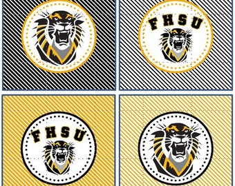 Fort Hays State University - 12 cupcake toppers