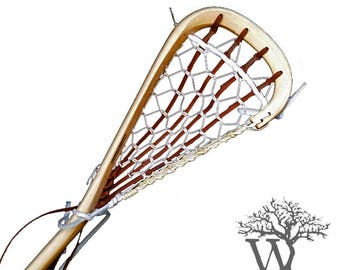 Traditional Lacrosse - 6ft Defensive Wooden Lacrosse Stick (Engraved*)
