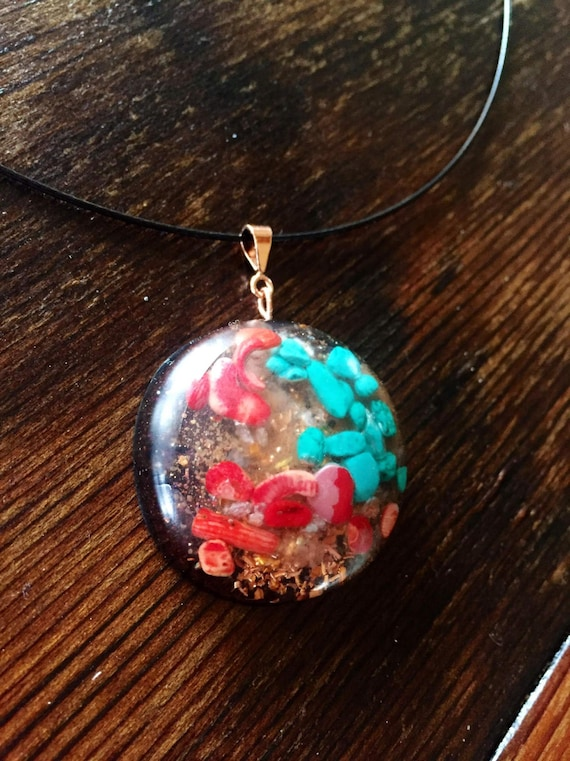 New Earth Orgone Energy Pendant- Tribal Orgone- Spirit of the Earth Root Chakra Healing Orgone Taliaman