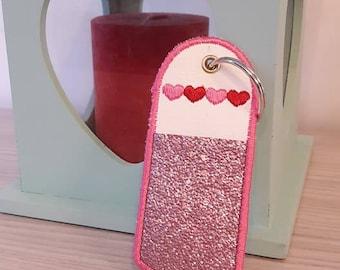 Key for lip balm holder