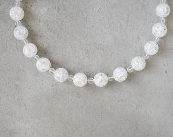necklace with berg crystal crash balls