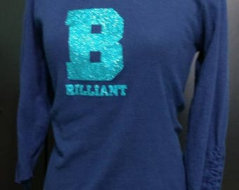 90s does 70s deconstructed tee with drawstrings and glitter BRILLIANT juniors large Paris Blues