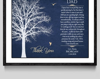 Father Of The Bride Gift - Dad Wedding Gift - Father Of The Bride Poem - Dad Wedding Poem - Father Wedding Gift