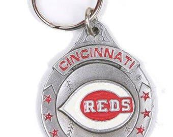 Cincinnati Reds MLB Keychain & Keyring - Pewter