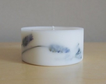 Lavender Soy Wax Pillar Candle (Small)
