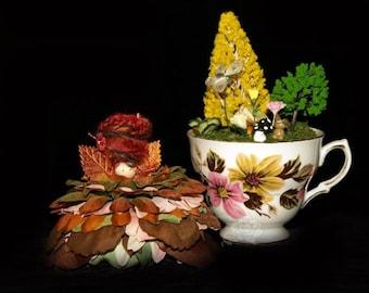 Faerie Vale and her Teacup Nursery, Fairy, OOAK, Diorama
