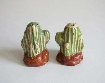 Mexico Cactus Salt and Pepper Shakers