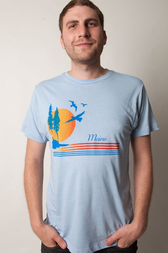Men's Maine Sunset Tee