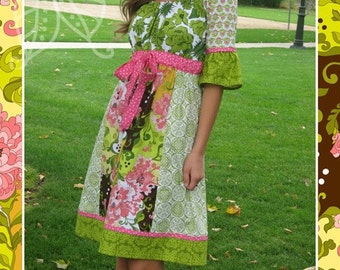 Lila Tueller The London Peasant Top/Dress Adult Sewing Pattern, FREE SHIPPING