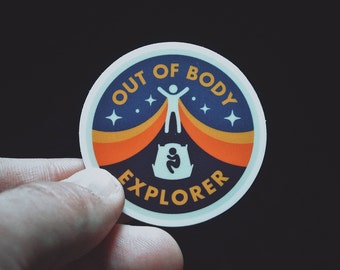 "Out of Body Explorer Sticker - 2"" Durable Vinyl Sticker - Metaphysical Accessory - Weather Resistant - For Lucid Dreamers & Astral Travelers"
