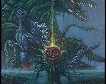GODZILLA VS BIOLLANTE (1989) - 12x18 print