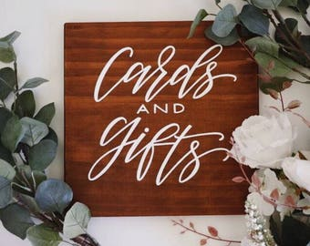 Cards and gifts sign | Willow and Ink | Wedding sign | Engagement sign | Wishing well sign | Wooden sign