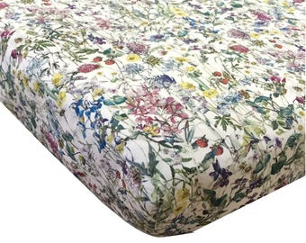 Liberty Print Fitted Sheet   Wild Flowers