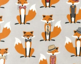 Fox and the Houndstooth - Fox Grey by Andie Hanna from Robert Kaufman