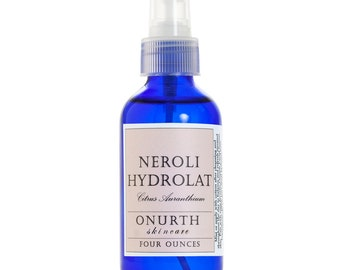 Neroli Blossom Hydrolat Facial Mist, Orange Blossom Flower Water, Combination Facial Skin Toner Spray, Natural Toner, After Work Out, 4oz
