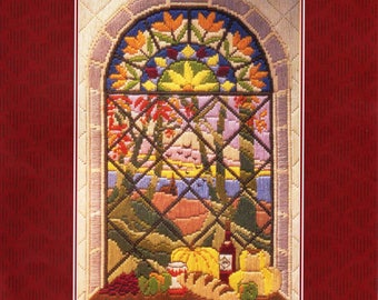 Autumn Through The Window LONG STITCH KIT by Anchor, Brand New