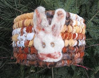 GLAZED CARROTS textile art BASKET tote Bucket