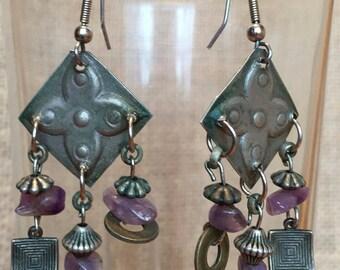 Boho Earrings * repurposed vintage elements * chic
