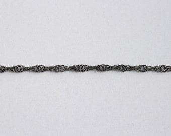 Gunmetal, 1.5mm Spiral Link Chain CC170
