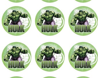 Green Strong Man Edible Image Cupcake Toppers