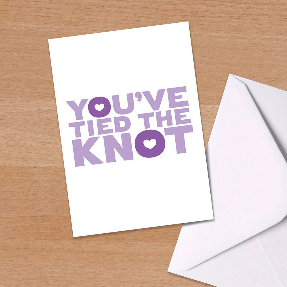 You tied the knot congratulations wedding card zoom kristyandbryce Image collections