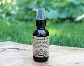 Natural Baby Oil  •  Baby Massage Oil  •  Baby Safe  •  All Natural  •  Organic Body Care
