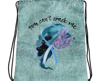 You Can't Crack Me - Anti Bullying Drawstring bag