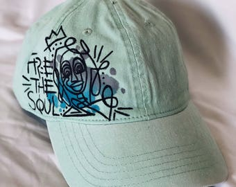 """Handpainted """"Free the Soul"""" hat"""