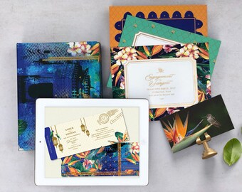 Digital Save the Date - Birds of Paradise Tropical Wedding Collection