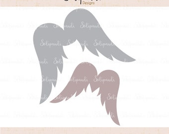 Wings - SVG and DXF Cut Files - for Cricut, Silhouette, Die Cut Machines // angel wings svg  #254