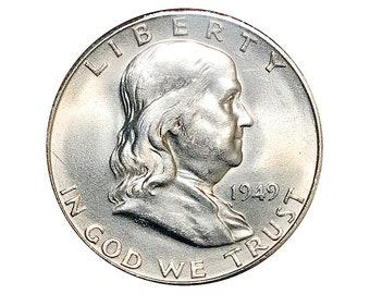 1949 S Franklin Half Dollar - Choice BU / MS / Unc - Better Grade
