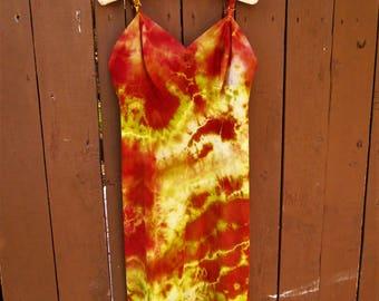 Small/Medium Slip/ Upcycled Dress/ Vintage Slip/ Sexy/ Fairy/ Surf Wear/ Boudoir/ Hippie/ Boho/ Tie Dye/ Beach Cover Up