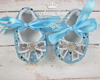 Light Blue Baby Shoes, Christmas Baby Shoes, Frozen Movie, Sequin Baby Shoes, Crib Shoes, Baby Girl Shoes, Infant Shoes, Newborn Girl Shoes