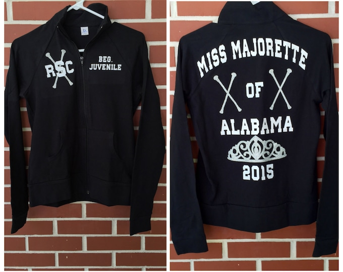 Brag Jacket, Miss Majorette Title Jacket, Monogrammed Brag jacket, Warm up Practice Jacket