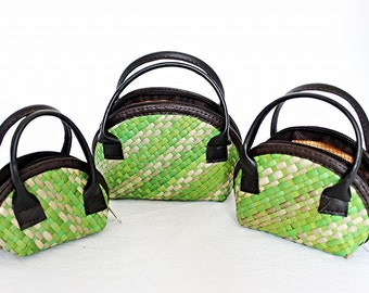 Small Purses (set of 3) Light Green White
