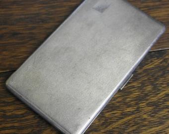 vintage large tooled silver plate cigarette case