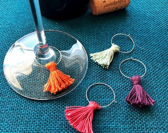 Tassel Wine Glass Drink Markers DIY Craft Kit for Individuals or Groups