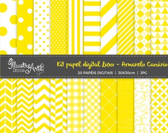 50% OFF -Digital Paper Basic Canary yellow