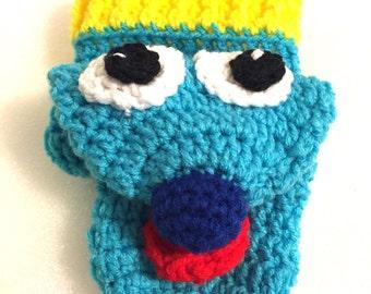 Crochet Hand Puppet, colorful hand puppet, glove puppet, puppet toy, animal puppet, child therapy puppet, teacher puppet, knit puppet