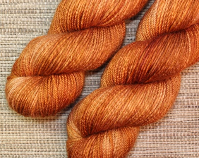 Hand dyed yarn - 115g Fine Superwash Merino -  DK weight (8 ply) in 'Smoked Chilli'