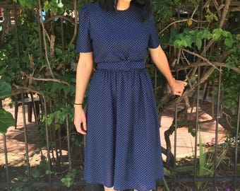 Perfect Polka Dotted 1970s Dress