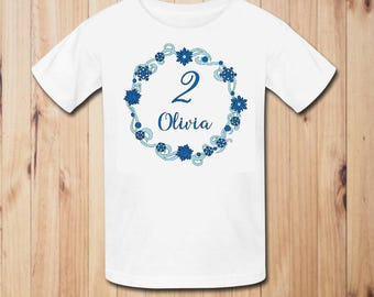 Winter Wonderland Birthday Party Shirt