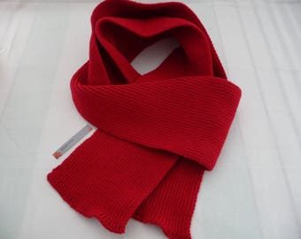 scarf knitted acrylic baby Red
