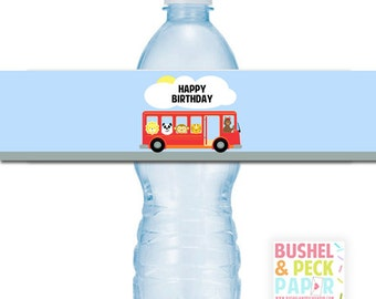 PRINTABLE Water Bottle Labels (print at home)