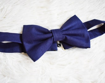 Blue Man Bow Tie - Man Bow Ties - Groom Bow Tie - Formalwear