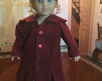 WW1 Era coat for 18 inch doll