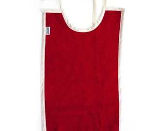 Baby Toddler Bib Cotton Large Long For Eating - Color: RED