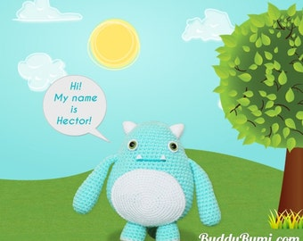 PATTERN: Baby monster amigurumi crochet doll pattern