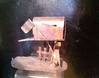 Shabby Chic Metal Mini Sculpture Mailbox